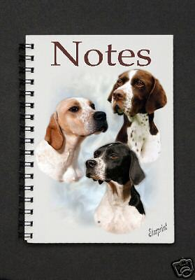 Pointer Dog Notebook/Notepad with a small image on every page - by Starprint