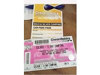 Creamfields 3 day camping ticket SILVER