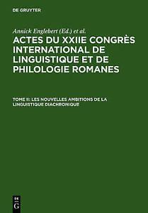 Les Nouvelles Ambitions de La Linguistique Diachronique-ExLibrary