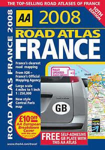 Road Atlas France (AA Atlases), , Very Good Book