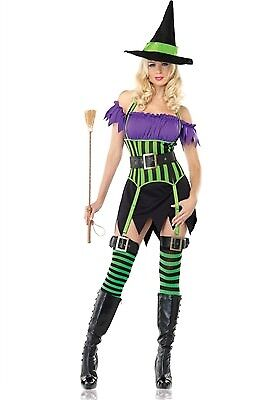 Green Witch Costume (Leg Avenue Costume Spellbinding Witch 83520 Purple/Green)