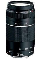 CANON 75-300 mm LENS FOR SALE. BRAND NEW NEVER USED