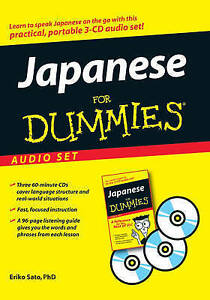 NEW Japanese For Dummies Audio Set by Eriko Sato