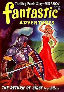 Fantastic Adventures: August 1941 by Schachner, Nat -Paperback