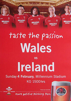 WALES v IRELAND 2006 MATCH RUGBY ADVERTISING POSTER