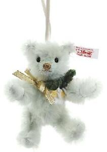 STEIFF CHRISTMAS ROSE TEDDY BEAR CHRISTMAS ORNAMENT EAN 035302 WW LTD ED 2012