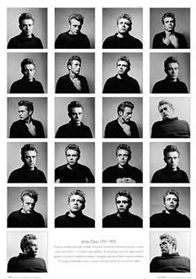 James Dean Poster   Full Size B W Celebrity Collage Print   Great Quote