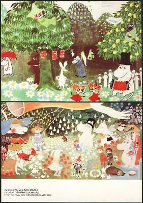 Moomin Finland Official Mint Postcards (2) Beautiful !!