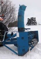 Lucknow snow blower 8.5 ft double auger Blizzard snow blade