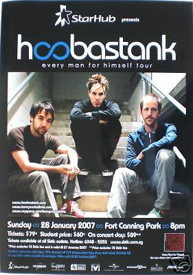 HOOBASTANK 2007 SINGAPORE CONCERT TOUR POSTER -ALT ROCK