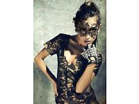 Black Lace Masquerade Halloween Prom Party Mask