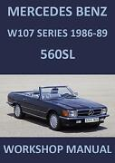 Mercedes 560SL Manual