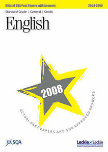 English Standard Grade (G/C) SQA Past Papers 2008, SQA, Very Good Book