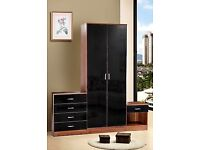 ***FREE LOCAL CASH ON DELIVERY** Double Wardrobe,Chest of 4 Drawers & Bedside Table