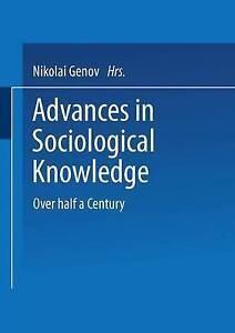 Advances in Sociological Knowledge, Nikolai Genov