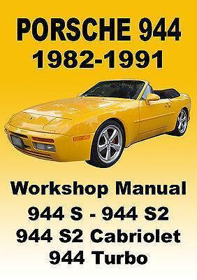 porsche 944 repair manual ebay. Black Bedroom Furniture Sets. Home Design Ideas