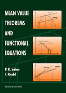 NEW Mean Value Theorms and Functional Equations by Thomas Riedel