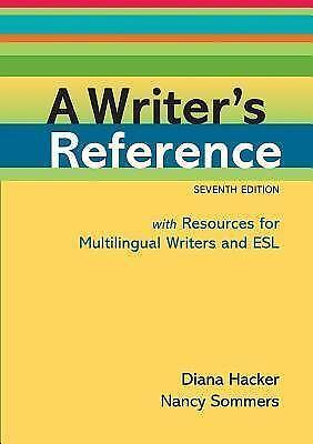 A Writers Reference Diana Hacker Ebay