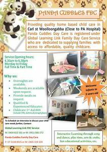 Panda Cuddles Family daycare Woolloongabba Brisbane South West Preview