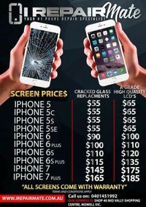 UNBEATABLE PRICES iPhone 6 LCD SCREEN $100.00!! 6S $120.00!! INSTALLED Trafalgar Baw Baw Area Preview