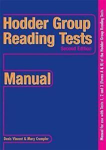 Hodder Group Reading Tests II: 1-3 Manual: Manual Level 2, Bks. 1-3, Crumpler, M