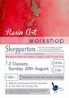 Amazing Resin Art Class coming this Sunday to Shepparton!