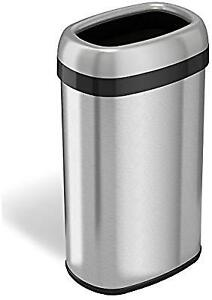 iTouchless open top deodorizer trash can