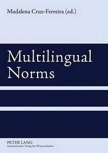 Multilingual Norms, Madalena Cruz-Ferreira