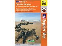 South Devon, Brixham to Newton Ferrers (OS Explorer Map) Folded Map, 6 Aug 2010 (BRAND NEW)
