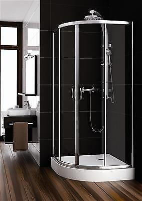 duschkabine 90x90 viertelkreis ebay. Black Bedroom Furniture Sets. Home Design Ideas