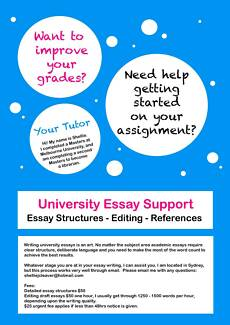 essay writing in brisbane region qld other learning tutoring  brisbane uni student essay help
