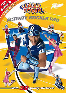 LazyTown Bumper Activity Sticker Pad -  2 Books in 1 with 30 Sporty Stickers