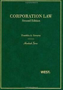 Corporation Law by Franklin A. Gevurtz (Hardback, 2010)
