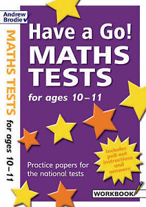Have a Go Maths Tests for Ages 10-11 (Have a Go), Hartley, William, New Book