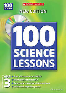 100 Science Lessons for Year 3 with CDRom, Anderson, Malcolm, Very Good conditio