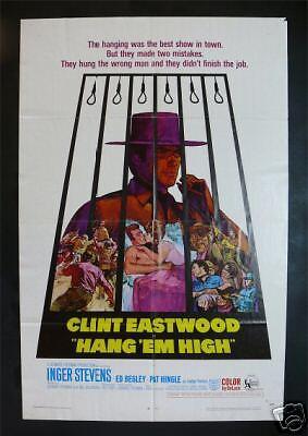 Hang Em High   Western Movie Poster Clint Eastwood 68