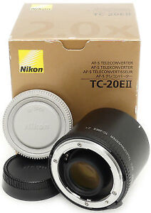 nikon AFS 2x II teleconverter in box