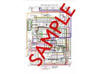 A3 /& Laminated MGB Colour Wiring Diagram