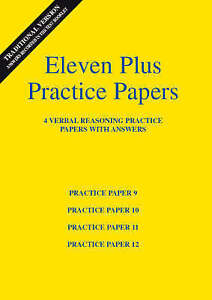 Eleven Plus Verbal Reasoning Practice Papers 9 to 12, AFN Publishing