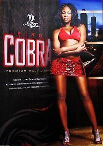 King-Cobra-Malt-Liquor-Beer-Sexy-Girl-Poster-Sign-New
