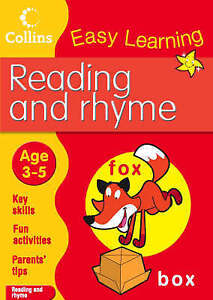 Reading and Rhyme age 3-5 Easy Learning Book