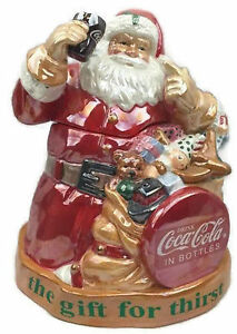 Coca Cola Santa Claus Cookie Jar Christmas The Gift For Thirst