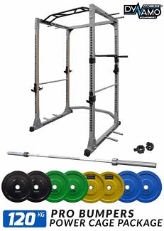 Power Cage / Squat Rack Olympic Bumper 120kg Package NEW