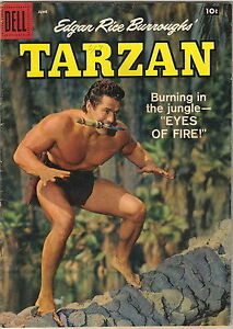Tarzan Comic Book #105, Dell Comics 1958 London Ontario image 1