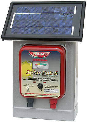 Electric Fence Charger 25-mile Solar-pak 6-volt Battery