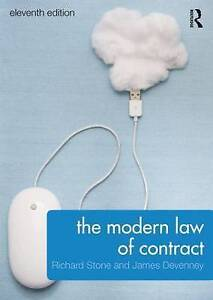 The Modern Law of Contract, Richard Stone