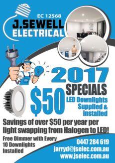 SUPPLY INSTALL LED DOWNLIGHTS - $40