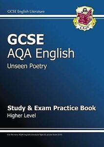 GCSE English AQA Unseen Poetry Study & Exam Practice Book Higher Level,CGP Book