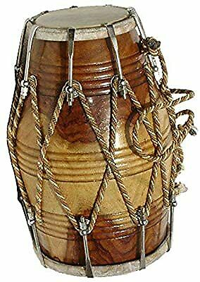 Stylist Shisham Wood Professional Dhol/Dholak/Dholki Drum with Carry Bag
