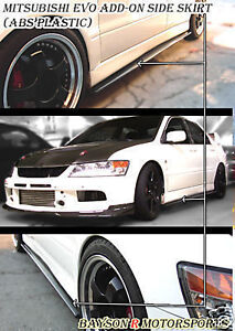01-07 EVO 7 8 9 Optional Add-On Side Skirts Extensions